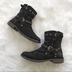 UGG black ankle booties Fabrizia suede size 8